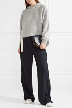 Tibi - Cashmere Hooded Top - Gray - XS/S