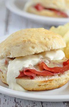 Biscuit Reuben Sandwiches
