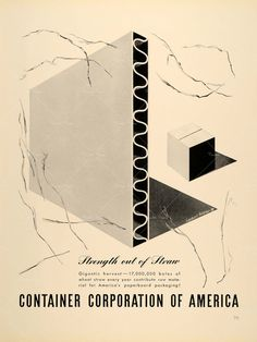 Container Corporation of America advertisement by Herbert Bayer.