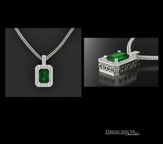 Emerald Pendant Emerald Pendant, Prasiolite, London Blue Topaz, I Love Jewelry, Dog Tag Necklace, Jewelery, Custom Design, Gems, Necklaces