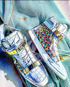 Alternative Visions-South Beach Edition (handpainted Guiseppe Zanotti Sneakers)