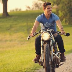 Cafe Racer Inspired Premium V-Neck Tee by Iconic Moto Culture