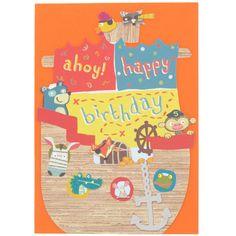 paperchase yoyo ship birthday card