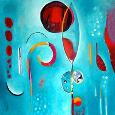 """Linda O'Neill :: """"Rising Voices"""" acrylic and collage on canvas"""