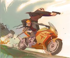 Calvin and Hobbs grown up and fighting crime