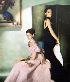 Vogue, 1946. Cecil Beaton. Carmen Dell'Orefice (seated) and Countess Gloria von Furstenberg (later Gloria Guinness).