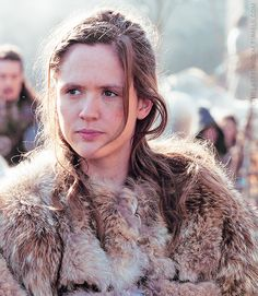 bbcthelastkingdom:   THE LAST KINGDOM PREMIERES SATURDAY, OCTOBER 10    Alongside Uhtred, Brida is captured as a child and raised by Danes. Brida and Uhtred's similar fates bind them as kindred spirits; the two become best friends and lovers. Fearless, gutsy, outspoken, and a born fighter, Brida immediately feels at home in the boisterous world of the Danes.