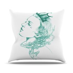 Queen of the Sea // Throw Pillow By Lydia Martin