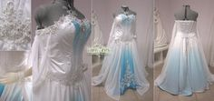 SOOOOO PRETTY!!!!    White and Blue Ombre Fantasy Wedding Gown by *Lillyxandra on deviantART