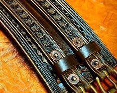 Leather Wrist Cuff Traditional American by MataraCustomLeather