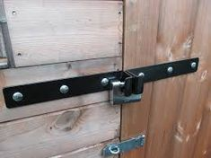 Heavy duty shed security bars garage pinterest more for Garden shed security