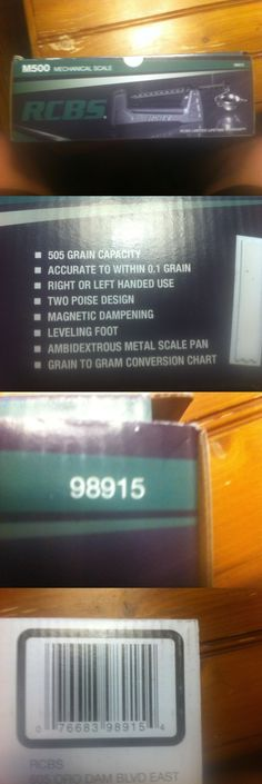 Powder Measures Scales 71119: Rcbs M500 Mechanical Scale Nib Free Shipping Reloading Equipment -> BUY IT NOW ONLY: $60 on eBay!