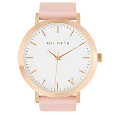 PRETTY IN PEACH. Glamour without the glitz. Neutral tones with a brushed rose gold casing and peach Italian leather band.