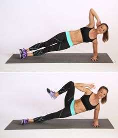 Tone Your Arms and Core With This Plank Workout Have you tried the Side Plank Crunch yet? Add it to your workout routine to tone your arms and abs at the same time! Lower Ab Workouts, Toning Workouts, Fun Workouts, Ab Exercises, Workout Tips, Ab Moves, Weight Exercises, Side Plank Crunch, Side Crunches