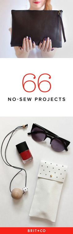 No-Sew Projects to Make Today (Mega Roundup!) Add these no-sew projects to your to-make list ASAP!Add these no-sew projects to your to-make list ASAP! Diy Fashion Projects, Diy Craft Projects, Sewing Projects, Diy Crafts, Fashion Ideas, Trendy Fashion, Fashion Tips, Fashion Art, Sewing Clothes Women