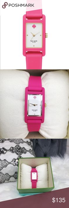 🎉HP🎉 Kate Spade Duffy Square Watch 🎉Host Pick🎉  Case Size 18 x 25 mm Case  Thickness 8mm Band Width 13 mm Water Resistant 3 ATM Warranty 2 Year International Origin Imported Closure Strap Buckle kate spade Accessories Watches
