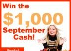 Win the $1,000 September Cash Sweepstakes