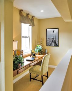Converting a small space into your mini home office - Cool ideas in this article..