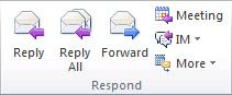 Reply or Forward an Email Message. Shortcuts: Ctrl-R and Ctrl-F