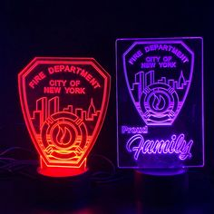 FDNY Firefighter Gift Light - Best Fireman Gift - Color Changing - Custom Patch Design Premier Display Inc.