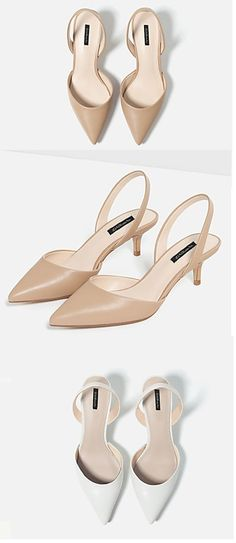 Practical and elegant sandals with a small heel and a closed toe. Repin if you also like them.
