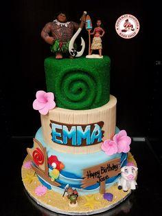 Custom 3 Tier Moana Cake