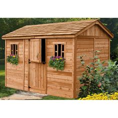 Outdoor Living Today Cabana 12 Ft. W x 8 Ft. D Wooden Garden Shed