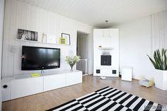 . Living Room, Room, Home, Flatscreen Tv, Flat Screen, Tv Stand, Shelving