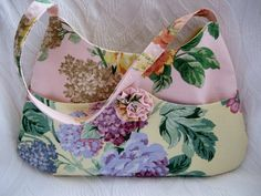 Pink and Yellow Shabby Chic Bag by Nataty on Etsy, $24.99