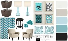 The Yellow Cape Cod: A Custom Room Design Inspired By A Photo. Design Plan Color Scheme.