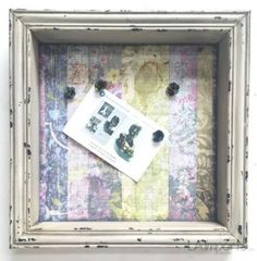 French Country Chic Les Floralies Noticeboard Pinboard With Shabby Chic Frame