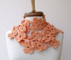 DOUBLE BLOOM ScarfReady for shippingFall by knittingshop on Etsy, $25.00