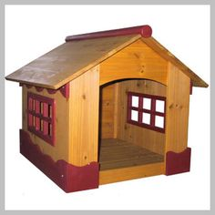 Merry Pet Ice Cream Dog House The Merry Pet Ice Cream House is an adorable indoor/outdoor dog house that's almost as cute as your pup! With burgundy wood trim and large, open windows this natural Plastic Dog House, Wood Dog House, Dog House For Sale, Dog House Plans, Dog Cages, Dog Training Pads, Cat Dog, Outdoor Dog, Indoor Outdoor
