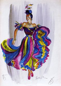 and alaska reminds me of beards, Helen Rose's costume design for Carmen Miranda in...