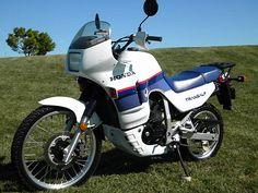 Honda Transalp  600-1987 Honda Motorbikes, Honda Motorcycles, Trail Motorcycle, Old Logo, Cool Bikes, Adventure, Rally, Vehicles, Tape