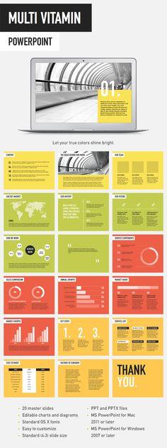 Multi Vitamin PowerPoint Template - Powerpoint Templates Presentation Templates