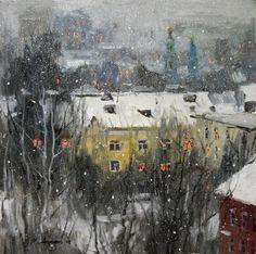 Савченко Алексей. выпал снег