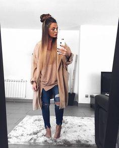 My fav look ❣ (Si soys de Bcn,he visto en Rbla Cataluña alguna unidad del abrigo ☝🏽️) #mood#look#style#streetstyle#like4like#fashion#instastyle#instagood#girl#streetstyle#zara#coat#moda#instasize#fashion#selfie#ootd