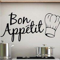 Sticker Bay Bon Appetit Kitchen Wall Sticker Art Quote - Black