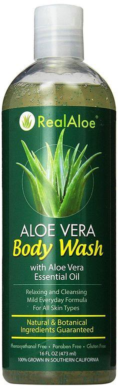 Real Aloe Aloe Vera Hair Shampoo with Argan Oil & Oat Beta, 16 Oz Aloe Vera Shampoo, Mild Shampoo, Hair Shampoo, Aloe Vera For Hair, Essential Oils For Skin, Argan Oil, Body Wash, Natural Hair Styles