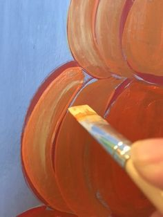Easy canvas painting for beginners step by step. Learn how to paint a pumpkin topiary painting on canvas! Paint this and more fall canvas paintings! Pumpkin Canvas Painting, Autumn Painting, Pumpkin Topiary, A Pumpkin, Step By Step Painting, Painted Pumpkins, Learn To Paint, Fall Halloween, Halloween Decorations