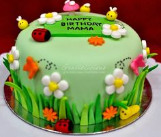 flower garden birthday cake - Google Search