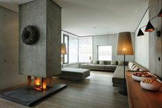 Ideal modernes wohnzimmer mit kamin das moderne kamin design bietet attraktives flammenbild modernes wohnzimmer mit kamin
