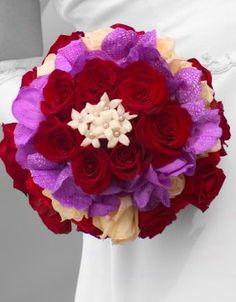 Bridal bouquet. Biedermeier style.
