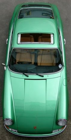 Drive off in a green Porsche...don't mind if I do!