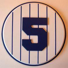 Retired Number 5 Plaque Yankees Joe DiMaggio - large
