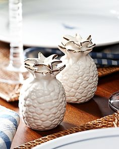 Tommy Bahama Pineapple Salt and Pepper Shakers