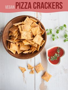 Vegan Pizza Cracker (going to try this with all-purpose gluten-free flour)ElephantasticVegan.com