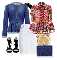 """""""blue and red"""" by mayaop on Polyvore featuring Rebecca Taylor, Barbour, Christian Dior, Dolce&Gabbana and Lazuli"""
