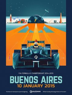 Formula E Championship Posters on Behance